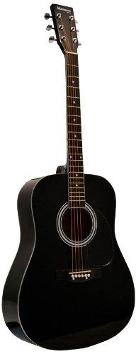 Huntington GA41PS-BK Acoustic Guitar Dreadnaught Steel String with 1...