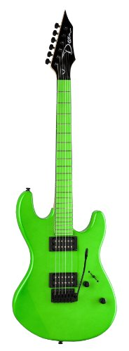 Dean Custom Zone Solid Body Electric Guitar, 2 Humbuckers Florescent...