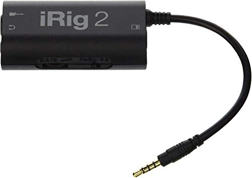 IK Multimedia iRig 2 Guitar Interface Adaptor for iPhone, iPod Touch &...