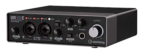 Steinberg UR22C 2x2 USB 3.0 Audio Interface with Cubase AI and Cubasis...