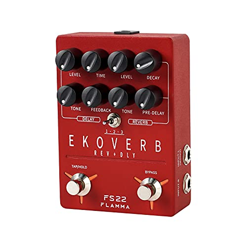FLAMMA FS22 Stereo Delay and Reverb Pedal Digital Guitar Effects Pedal...