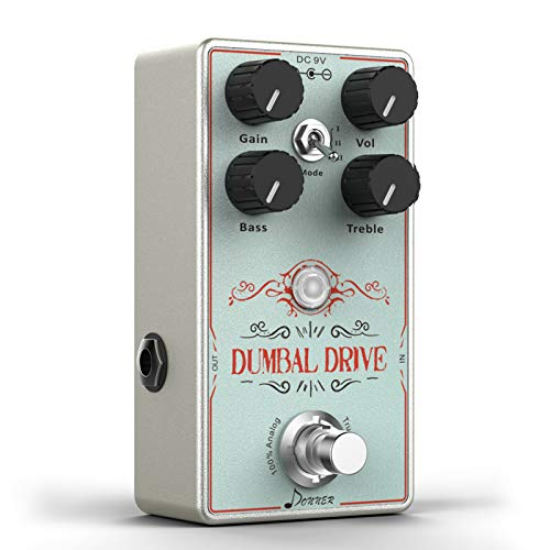 Donner Dumbal Drive Overdrive Guitar Pedal, Transparent Overdrive with...