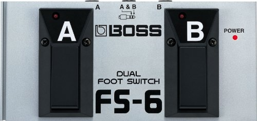 BOSS, 1/4-Inch Straight Metal Dual Footswitch, Battery-Powered (FS-6)
