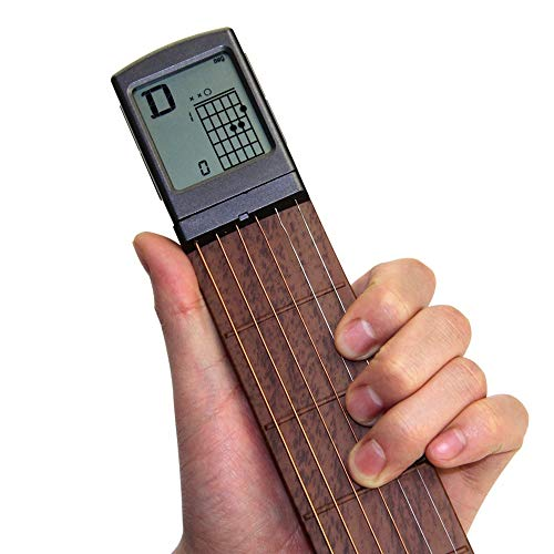 Pocket Guitar Chord Practice Tool, Portable Guitar Neck for Trainer...