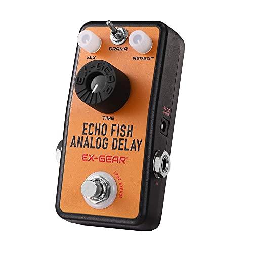 EX-GEAR Echo Fish Analog Delay Guitar Pedal with Drama Switch, True...