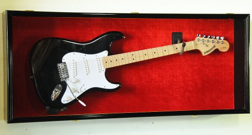 Guitar Display Case Cabinet Wall Rack for Fender or Acoustic w/UV...