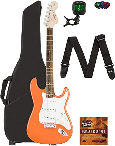 Fender Squier Affinity Stratocaster - Competition Orange Bundle with...