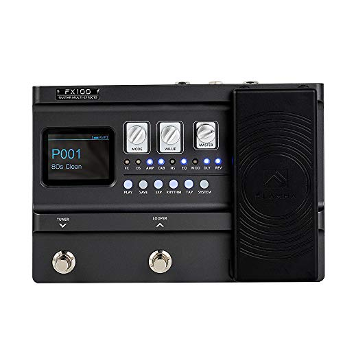 FLAMMA FX100 Guitar Pedal Multi-effects Processor with Expression...