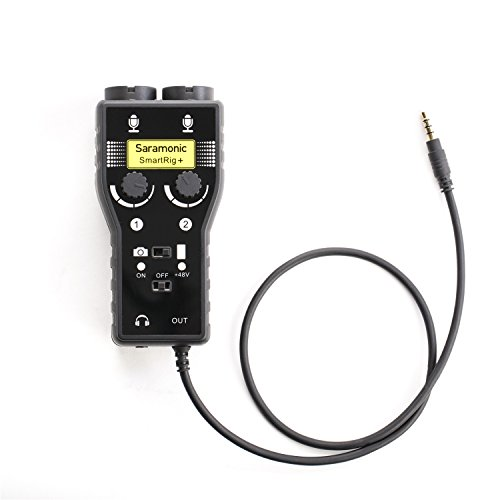 Saramonic SmartRig+ 2-Channel XLR/3.5mm Microphone Audio Mixer with...