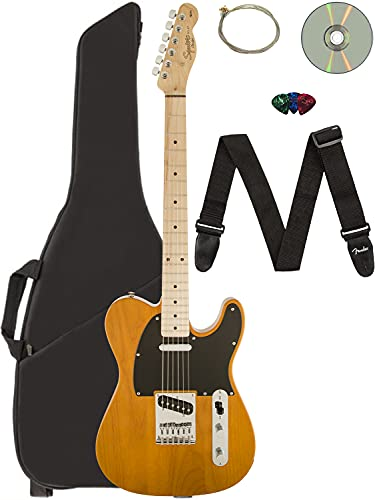 Fender Squier Affinity Telecaster - Butterscotch Blonde Bundle with...