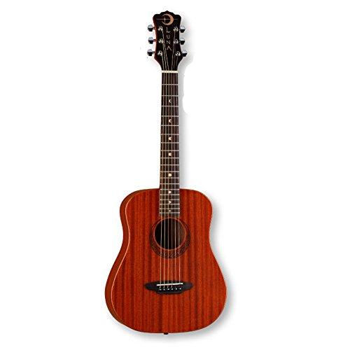 Luna Safari Series Muse Mahogany 3/4-Size Travel Acoustic Guitar -...