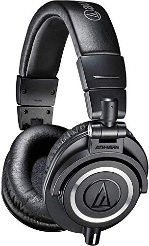 Audio-Technica ATH-M50x Professional Studio Monitor Headphones, Black,...