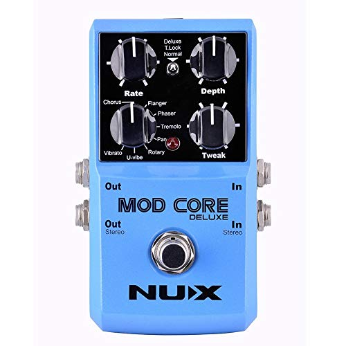 NUX MOD Core DELUXE Chorus/Flanger/Phaser/Rotary Guitar Effect Pedal 8...