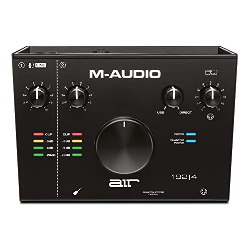 M-Audio AIR 192|4 - 2-In/2-Out USB Audio Interface with Recording...