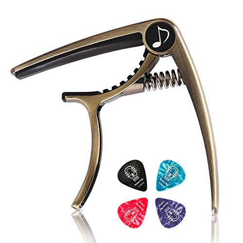 Donner DC-2 One Handed Trigger Guitar Capo for Electric and Acoustic...