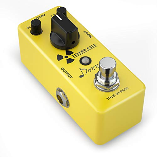 Donner Guitar Delay Pedal, Yellow Fall Analog Delay Guitar Effect...