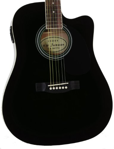 Full Size Thinline Black Acoustic Electric Guitar with Free Gig Bag...