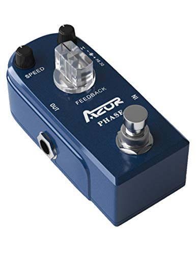 AZOR Vintage Phaser Guitar Effect Pedal Mini Pedal Pure Analog...