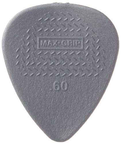 Dunlop 449P.60 Max-Grip Nylon Standard, Light Gray, .60mm, 12/Player's...