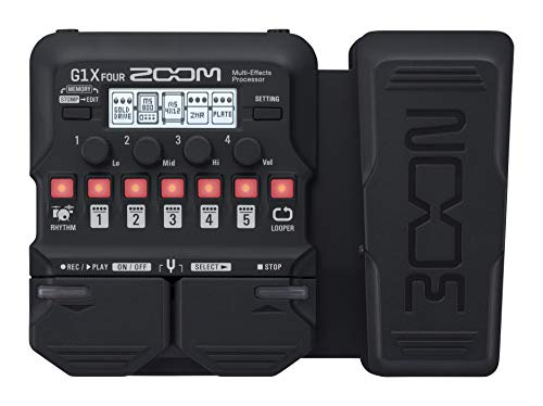 Zoom G1X FOUR Guitar Multi-Effects Processor with Expression Pedal,...