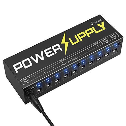 Donner Dp-1 Guitar Power Supply 10 Isolated DC Output for 9V/12V/18V...