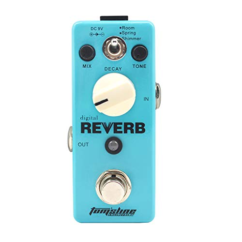 Tom'sline Reverb Pedal - Digital Classic Guitar Effect Pedal 3 Modes...