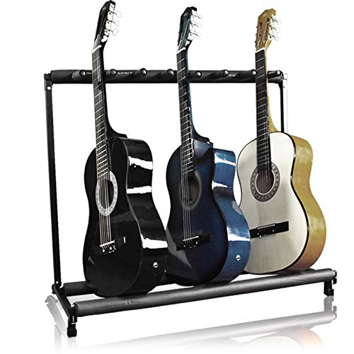 Best Choice Products Multi-Guitar Stand, 7 Instrument Folding Storage...