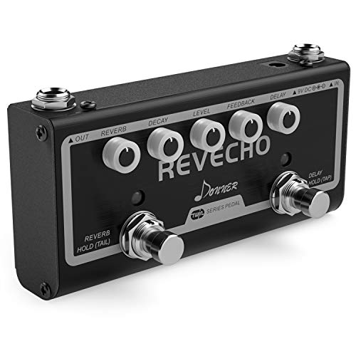 Donner Revecho Reverb Delay Pedal 2 Modes Guitar Effect Pedal Tap...
