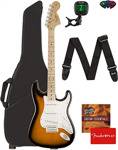 Fender Squier Affinity Stratocaster - 2-Color Sunburst Bundle with Gig...