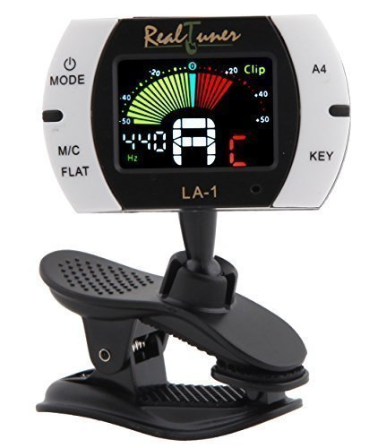 Real Tuner - Chromatic Clip-on Tuner for Guitar, Bass, Violin,...