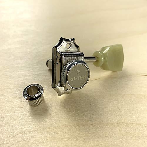 Gotoh Locking Tuners - 3 per side - Magnun Lock Trad (MG-T) - Nickel