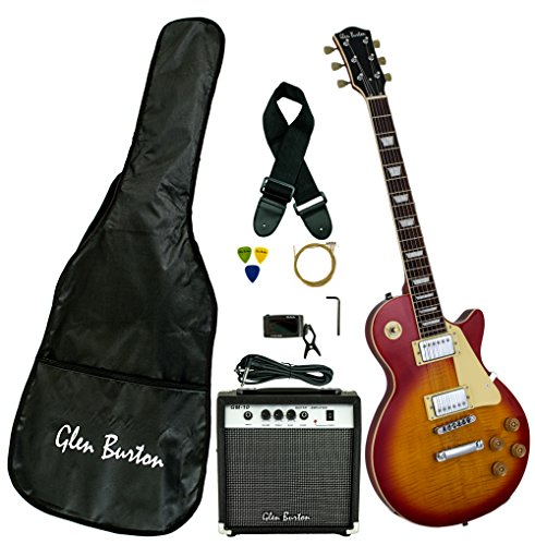 Glen Burton GE320BCO-CBS Classic LP-Style Electric Guitar, Cherry...
