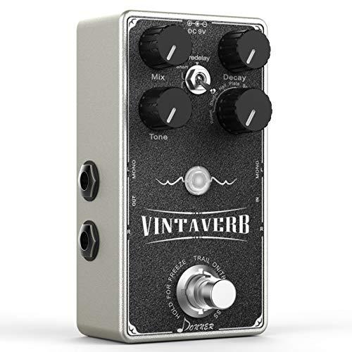 Donner Reverb Guitar Pedal, Vintaverb Stereo Reverb 7 Effects Room,...