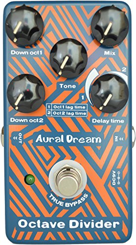 Aural Dream Octave Divider Guitar Effect Pedal includes drop 1oct and...