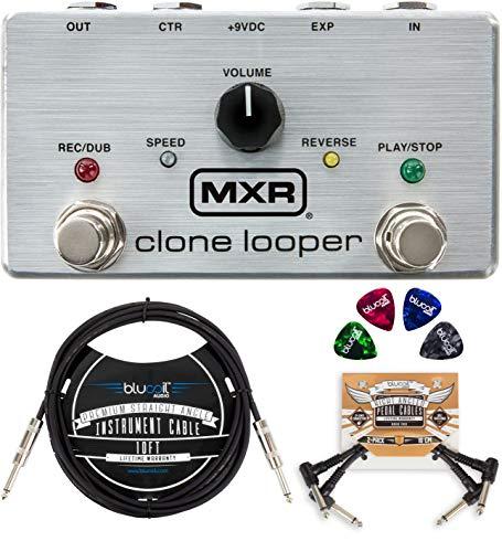 MXR M303 Clone Looper Pedal Bundle with Blucoil 10-FT Straight...
