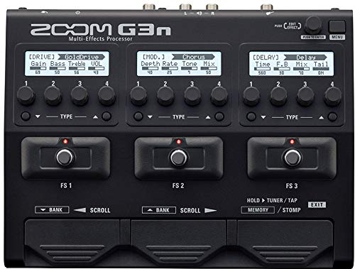 Zoom G3n G-Series Multi-Effects Processor for Guitar, 70 (68 Effects,...