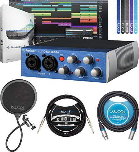 PreSonus AudioBox USB 96 2x2 USB Audio Interface Bundle with Studio...