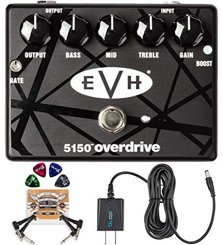 MXR EVH 5150 Overdrive Pedal with 3 Band EQ Bundle with Blucoil Slim...