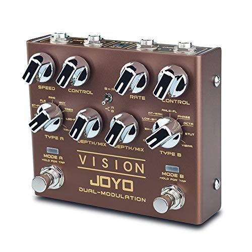 JOYO R-09 VISION Multi-Effects Pedal Dual Channel Modulation Effect...