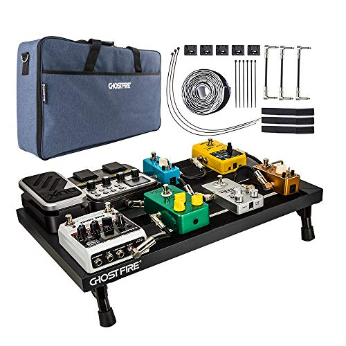 Guitar Pedal Board, Effects Pedal Board Aluminum with UPGRADED Bag,...