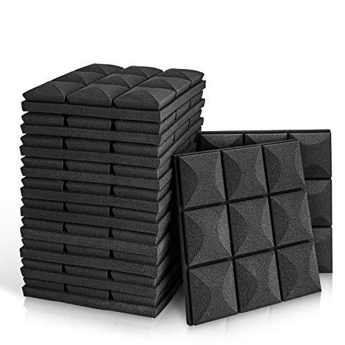 12 Pack - Acoustic Foam Panels, 2' X 12' X 12' Mushroom Studio Wedge...
