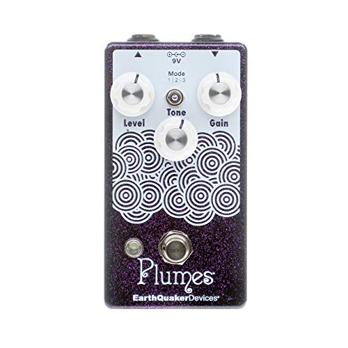 EarthQuaker Devices Plumes Small Signal Shredder, Purple Sparkle (Gear...