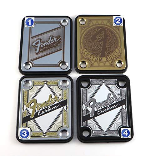 Standard 4 Bolt'Custom Built' Engraved or Printed Guitar Neck Plate -...