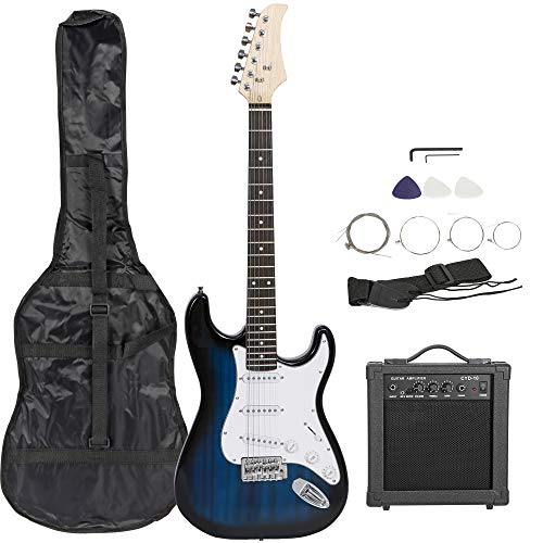 Smartxchoices 39' Electric Guitar Full Size Blue Beginner Guitar with...