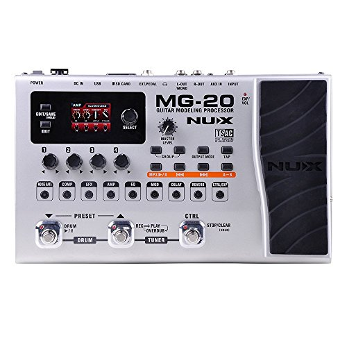 NUX MG-20 Electric Guitar Multi-effects Processor with Drum machine...