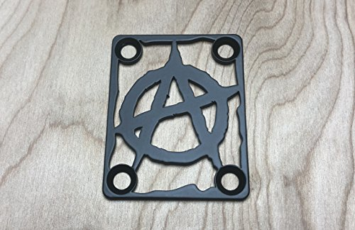 ANARCHY NECK PLATE FOR YOUR CUSTOM GUITAR OR BASS - INDUSTRIAL BLACK