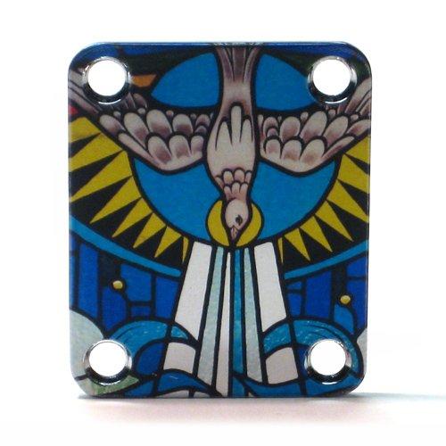 Custom Shop Guitar Neck plate Christian Dove -Fits Strat /Tele / Bass