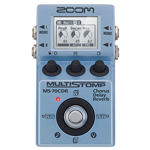 Zoom MS-70CDR MultiStomp Chorus/Delay/Reverb Pedal Along with Cables...