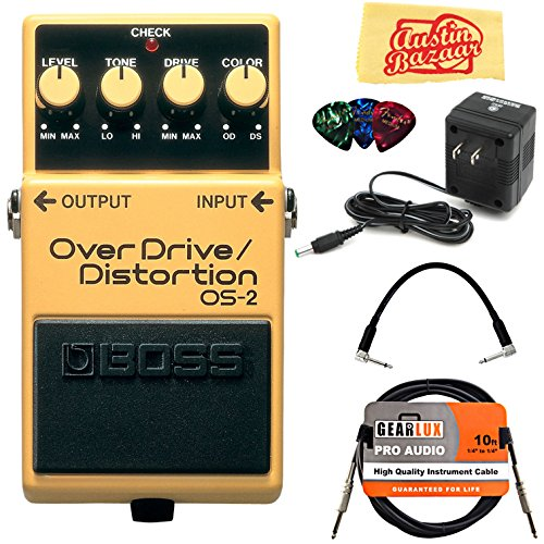Boss OS-2 OverDrive/Distortion Bundle with Power Supply, Instrument...