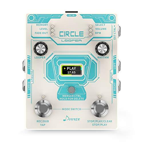 Donner Loop Effect Pedal, Circle Looper 40 Slots 160 mins Looping...